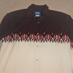 Vintage Western Shirt Wrangler Pearl Snaps